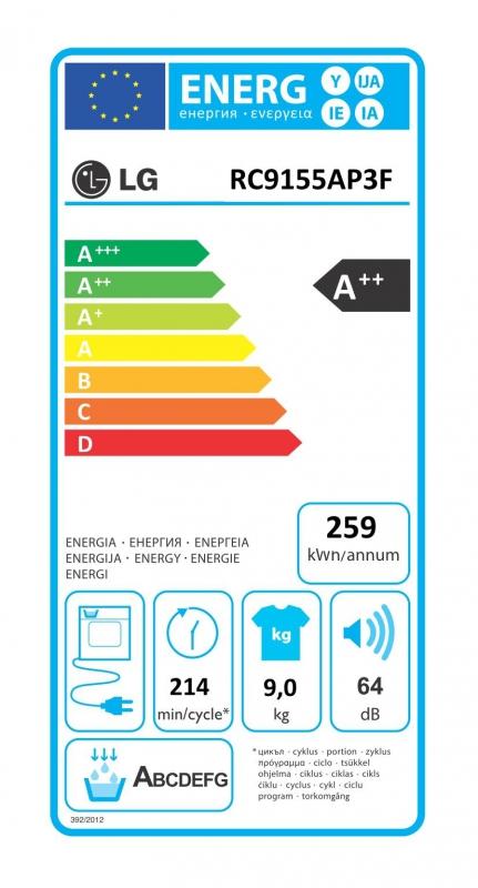 Energetický štítek LG RC9155AP2F