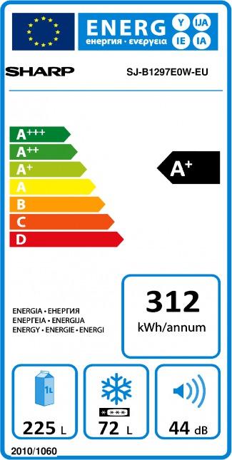 Energetický štítek Sharp SJB 1297E0WEU