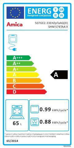 Energetický štítek Amica SHM 576TAA X