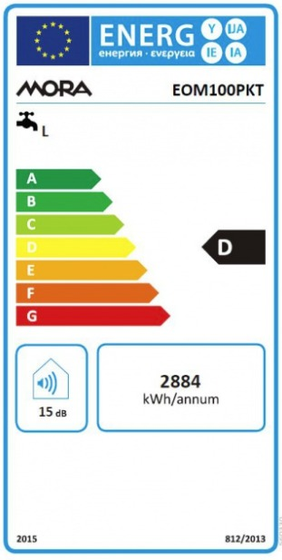 Energetický štítek Mora elektrický EOM 100 PKT