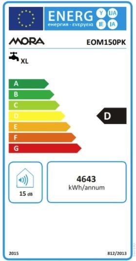 Energetický štítek Mora elektrický EOM 150 PK