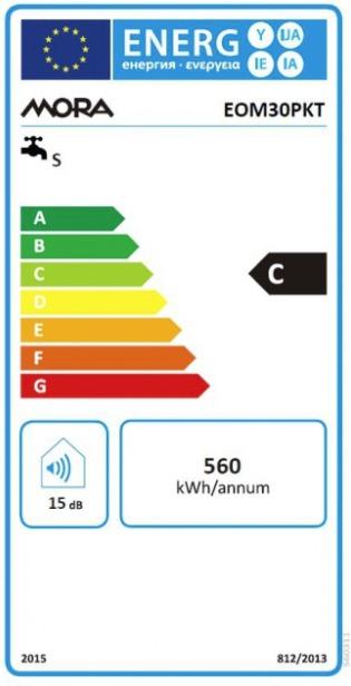 Energetický štítek Mora elektrický EOM 30 PKT