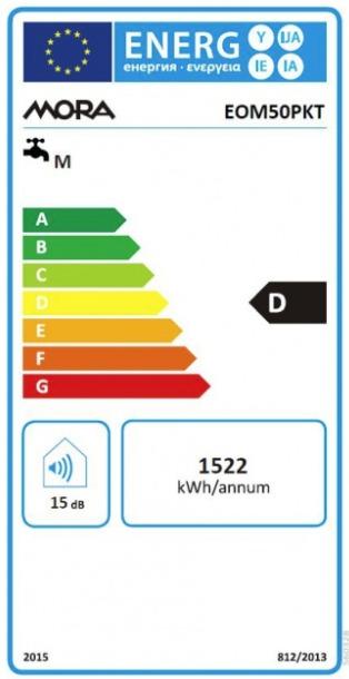 Energetický štítek Mora elektrický EOM 50 PKT