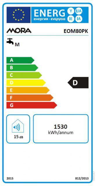 Energetický štítek Mora elektrický EOM 80 PK