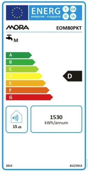 Energetický štítek Mora elektrický EOM 80 PKT