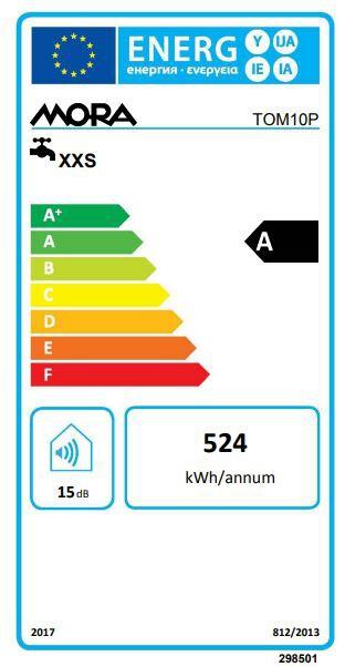 Energetický štítek Mora TOM 10 P