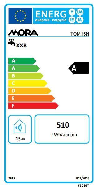Energetický štítek Mora TOM 15 N