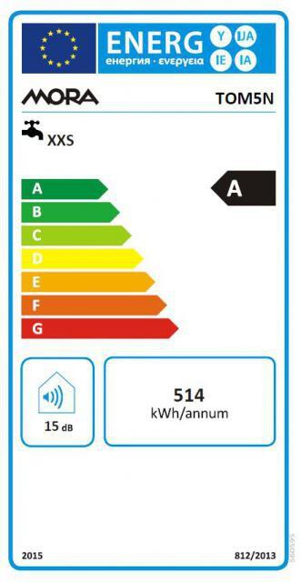 Energetický štítek Mora TOM 5 N