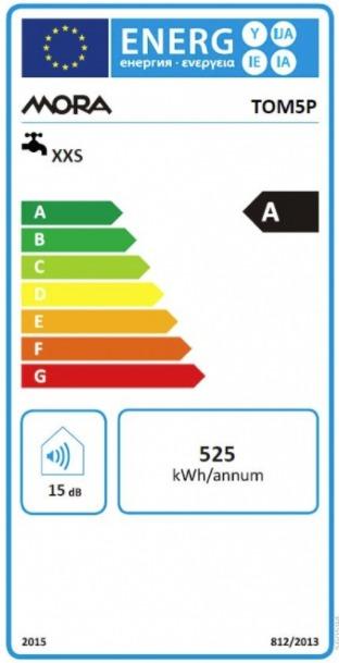 Energetický štítek Mora TOM 5 P