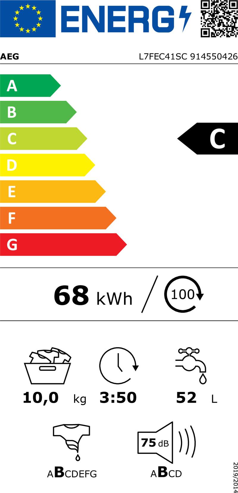 Energetický štítek AEG ProSteam® L7FEC41SC