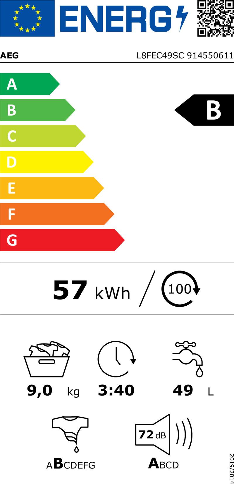 Energetický štítek AEG ÖKOMix® L8FEC49SC