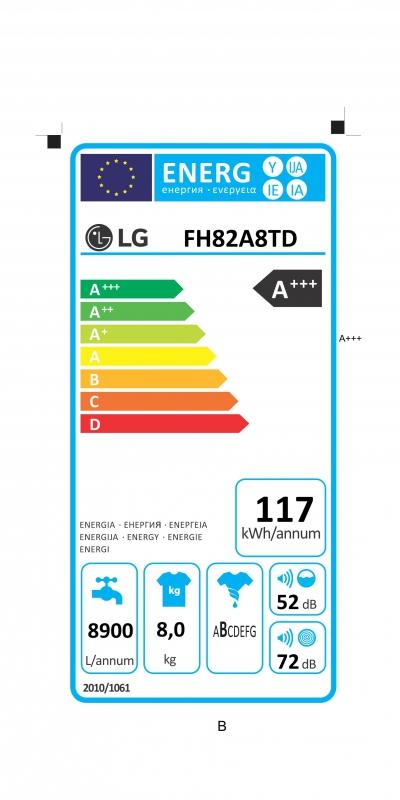 Energetický štítek LG FH82A8TD