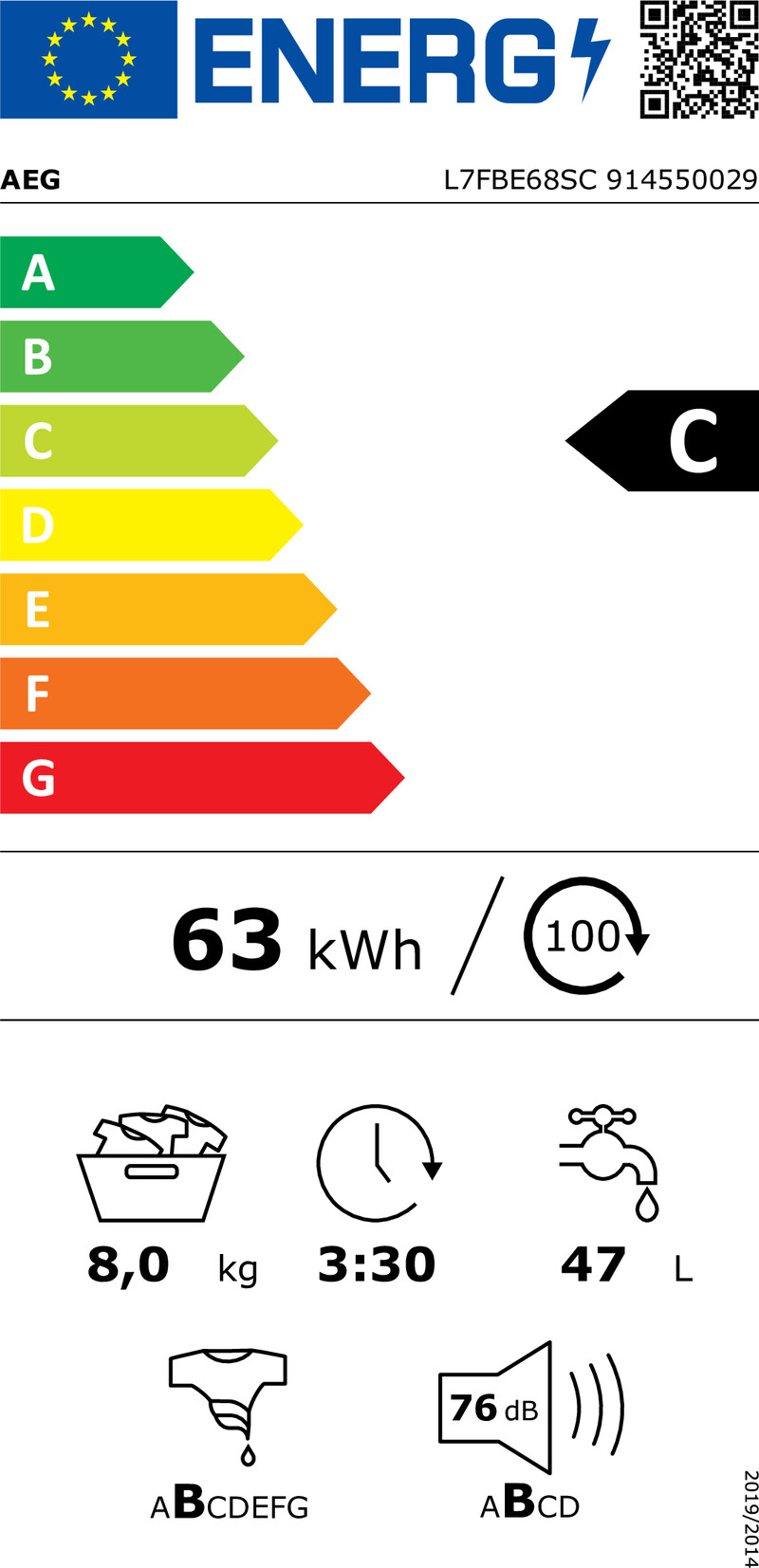 Energetický štítek AEG ProSteam® L7FBE68SC