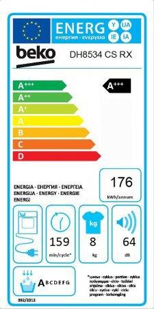 Energetický štítek BEKO DH 8534 CSRX kondenzační
