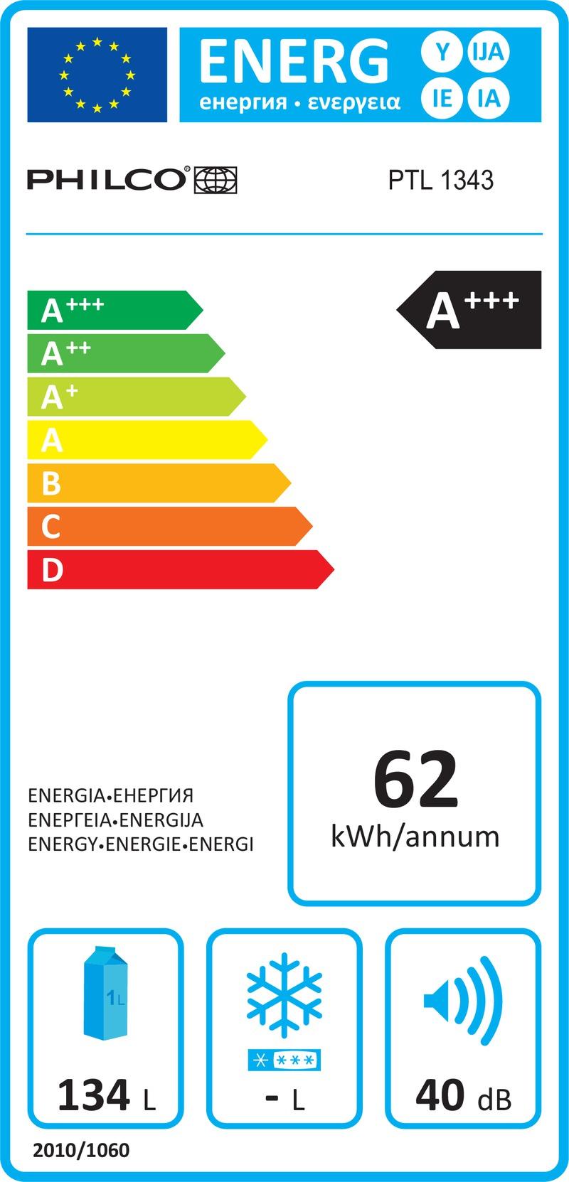 Energetický štítek Philco PTL 1343