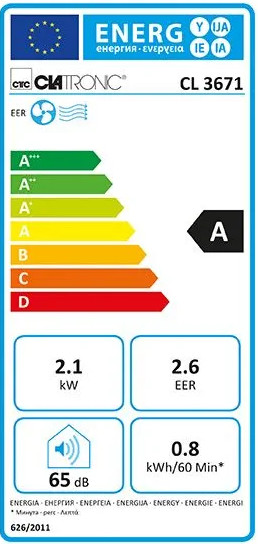 Energetický štítek Clatronic CL3671