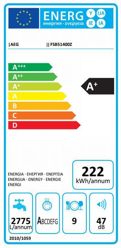 Energetický štítek AEG Mastery FSB51400Z