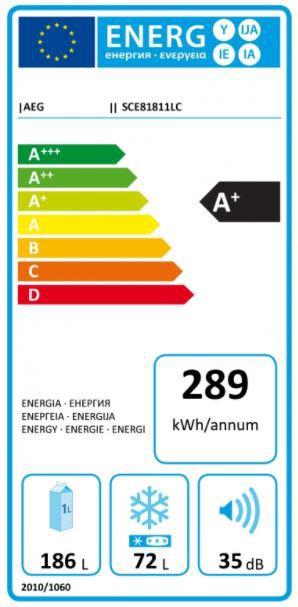Energetický štítek AEG Mastery SCE81811LC
