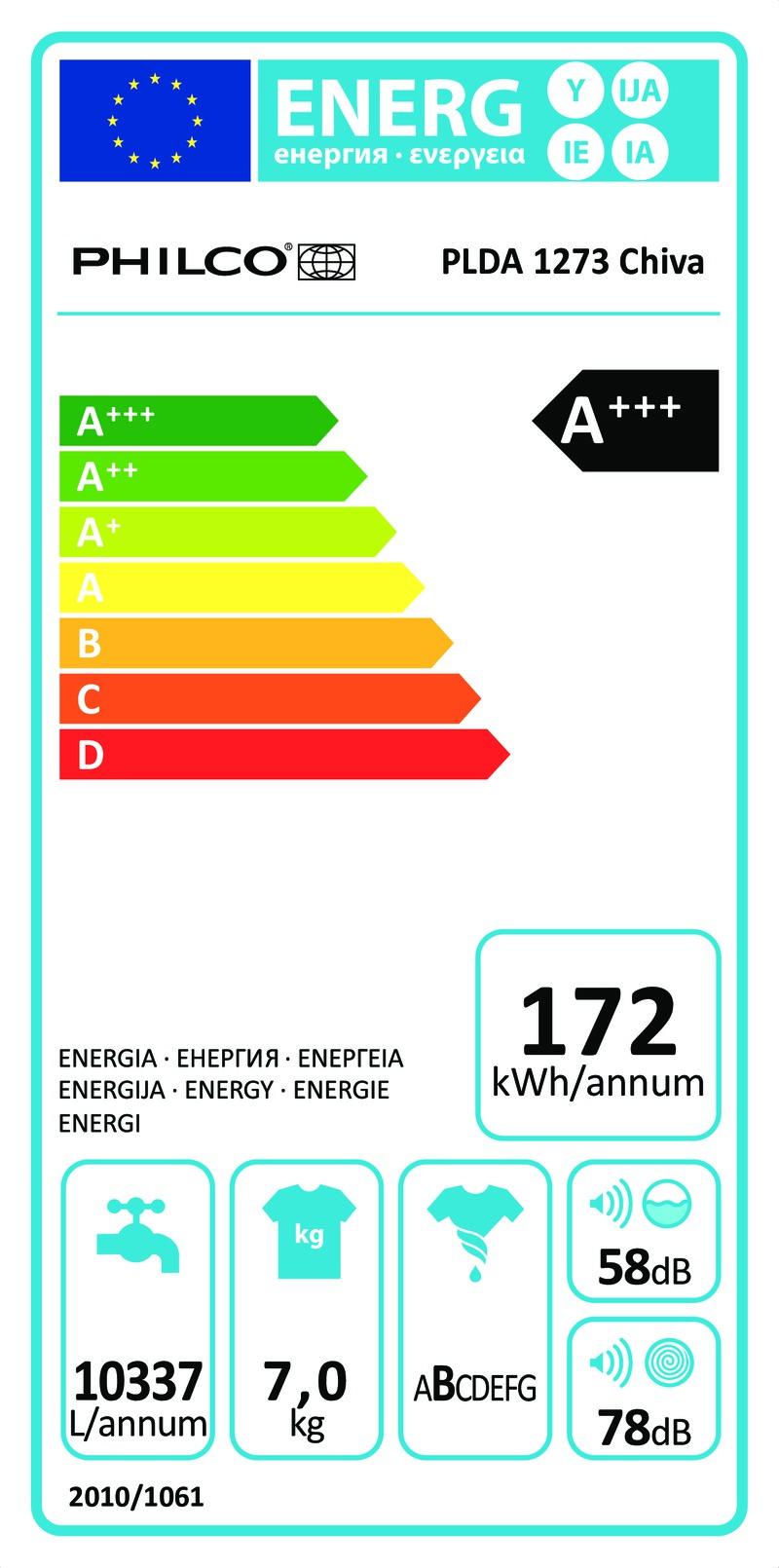 Energetický štítek Philco PLDA 1273 Chiva