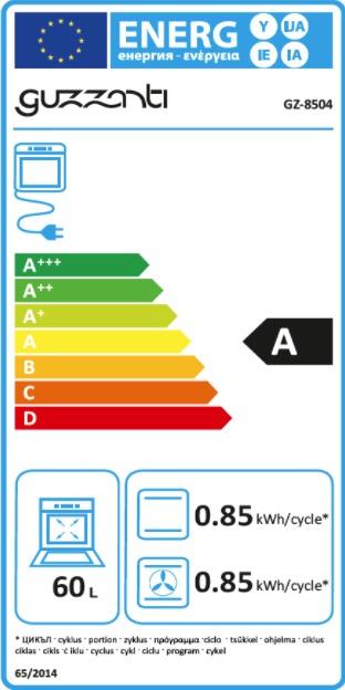 Energetický štítek Guzzanti GZ 8504