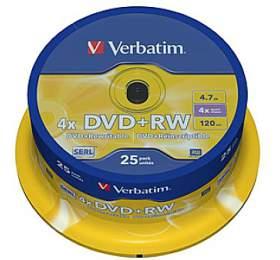 Verbatim DVD+RW 4.7GB, 4x, 25cake