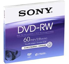 SONY DVD-RW disk, 2,8GB, 1 ks, 8 cm