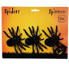 Pavouk plast 3ks 11cm nakartě