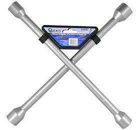 Klíč křížový nakola, 17x19x21x22mm GEKO