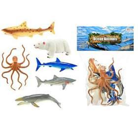 Zvířátka mořská plast 14cm 6ks vsáčku