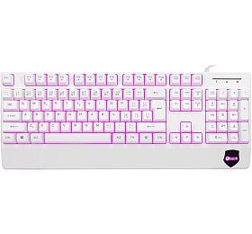C-Tech KB-104W, USB, 3barvy podsvícení, bílá, CZ/SK