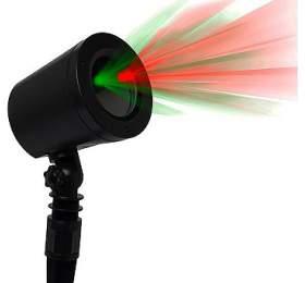 IMMAX venkovní laserový reflektor/ barva zelená-červená/ motivy Star Shower/ IP65, IP44 adaptér