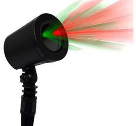 IMMAX venkovní laserový reflektor/ barva zelená-červená/ 6v1 vánoční motivy/ IP65, IP44 adaptér
