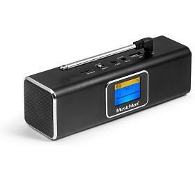 Technaxx přenosné Bluetooth rádio areproduktor MusicMan, DAB/DAB+/FM, černý