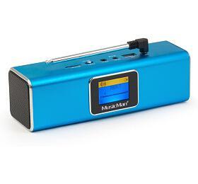 Technaxx přenosné Bluetooth rádio areproduktor MusicMan, DAB/DAB+/FM, modrý