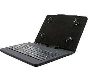 """C-TECH PROTECT pouzdro univerzální s klávesnicí pro 7""""-7,85"""" tablety, FlexGrip, NUTKC-01, černé"""