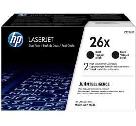 HP 26X Dvojbalení černých originálních tonerových kazet LaserJet svysokou výtěžností
