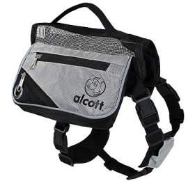 Alcott batoh pro psy, šedý, velikost S