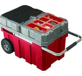 Keter kufr nanářadí skolečky červený 61,6x37,8x41,5cm