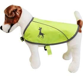 Alcott reflexní vesta pro psy, žlutá, velikost M