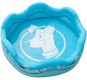 Alcott Nafukovací bazén pro psy, modrý, 121,9 x40,6 x121,9 cm