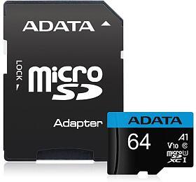 ADATA Premier 64GB microSDXC /UHS-I CLASS10 A1/ 85/25 MB/s /+ adaptér