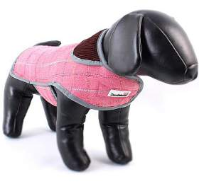Doodlebone kabát, Tweedie, růžový, velikost L