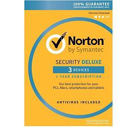 SPECIAL -NORTON SECURITY DELUXE 3.0 CZ1 UŽIVATEL 3ZAŘÍZENÍ 12MĚSÍCŮ -ELEKTRONICKY KLIC