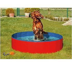 Karlie-Flamingo Skládací bazén pro psy modro/červený 160x30cm