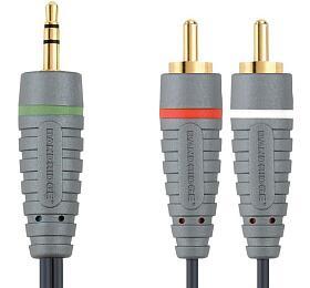 BANDRIDGE Kabel 3,5mm JACK konektor - 2x CINCH, 2 metry BN-BAL3402