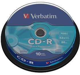 Verbatim CD-R DL700MB/80min, 52x, Extra Protection, 10cake