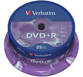 Verbatim DVD+R 4,7GB, 16x, 25cake