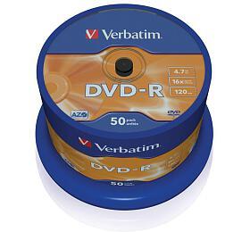 Verbatim DVD-R 4,7GB, 16x, 50cake