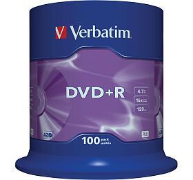 Verbatim DVD+R 4,7GB, 16x, 100cake