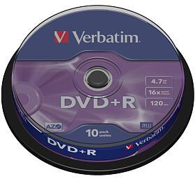 Verbatim DVD+R 4,7GB, 16x, 10cake